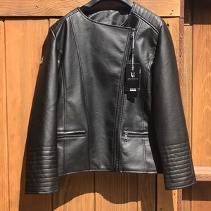 NWT VG World Collection Leather Motorcycle Jacket